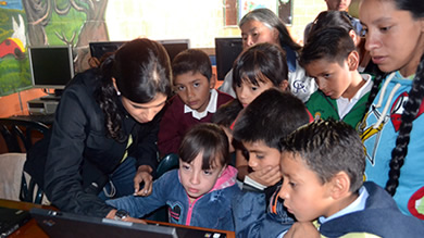 The new technology center in Soacha, Colombia will provide education and training to 50 to 60 children. The computers were donated by Kellogg EMBA students and their employers, and installed by Njideka Harry '12 and several classmates in August.