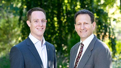 McGowan Scholar Tyler Barrack and Senior Associate Dean Michael J. Fishman